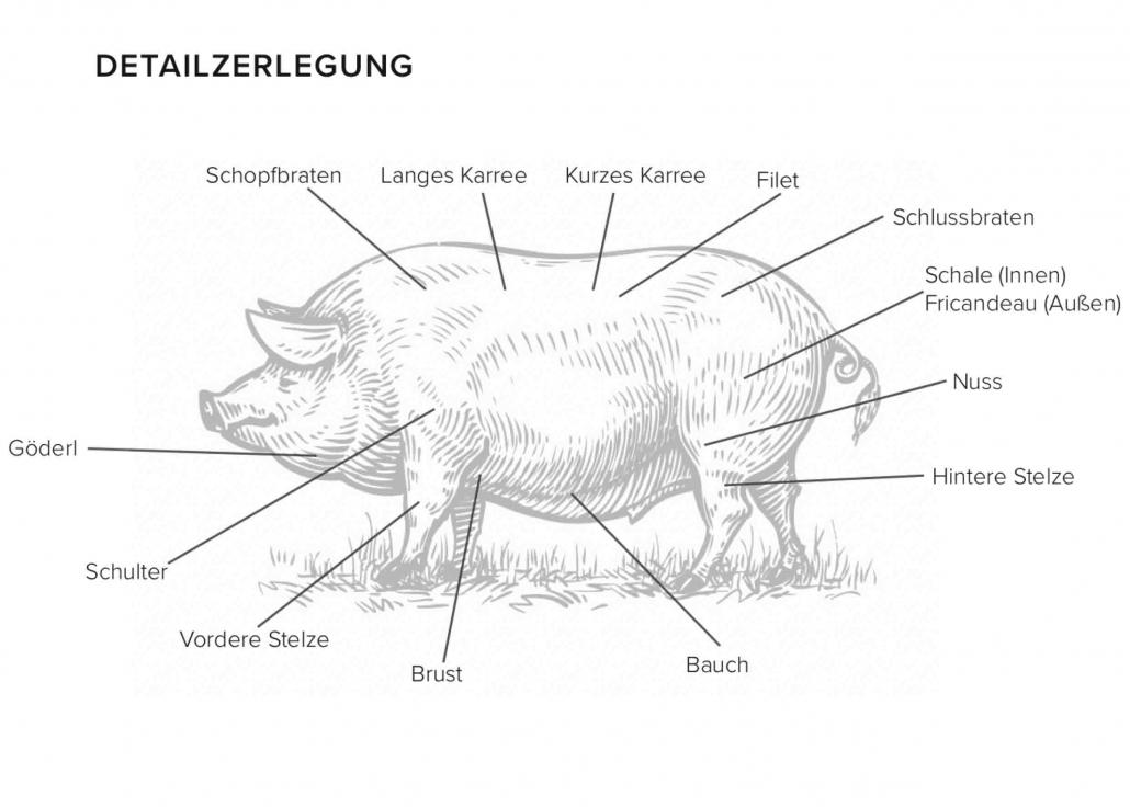 Teilstücke Schwein